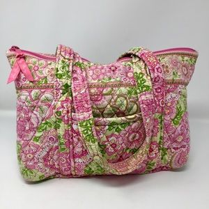 Vera Bradley Quilted Travel Tote Bag Purse Satchel